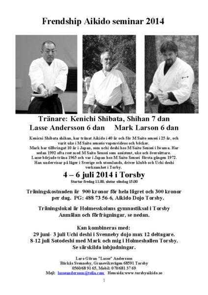 INBJUDAN Chibata, Mark, Lasse  2014